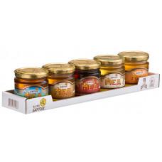 Natural honey set (gift boxe) 250 g*5