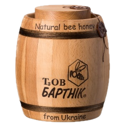 Natural honey in a wooden barrel 1400 g.